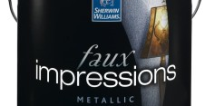 Faux Impressions Metallic - Sherwin-Williams new Faux Impressions Specialty Finishes collection adds a stylish element to commercial and residential spaces. Offering best-in-class technology, Faux Impressions is available in four collectionsOld World, Artisan Impressions, Quartz Stone and Metallicfor a total of twelve distinctive looks that are easy to achieve.