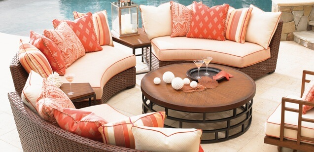 Is your Outdoor Room ready for spring?  Pictured: Tommy Bahama Outdoor Living