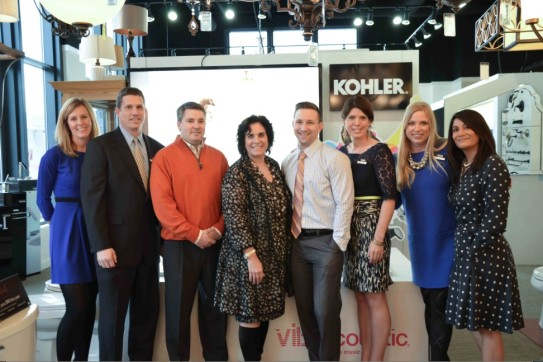 The Ferguson Bath, Kitchen &amp; Lighting and Kohler teams gathered for a photo in the Ferguson showroom.