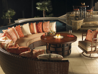 Tommy Bahama Outdoor Living Ocean Club collection captures the essence of refined island living.  The weatherproof cushions and realistic resin weave make the perfect blend for outdoor living.