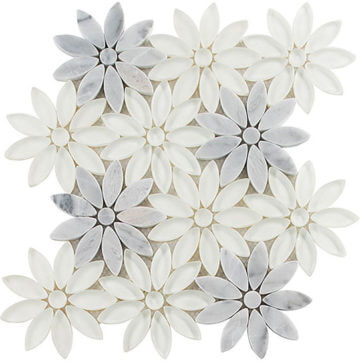 Daisy Field Glazzio Tile from Jack Laurie Home Floor Designs, suite 124.