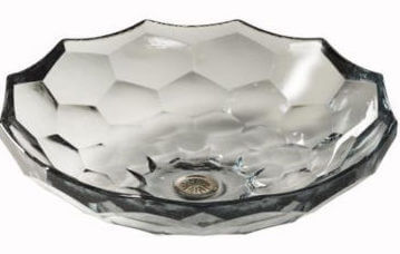 Hexagon Kohler Briolette vessel from Ferguson Bath, Kitchen & Lighting Gallery, suite 101 at the IDC.