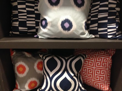 Accent pillows from Drapery Street