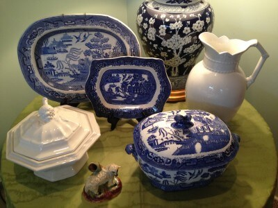 Blue and white vignette Rosalind Pope