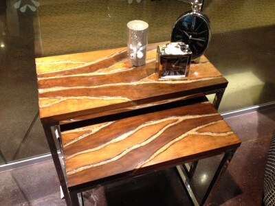 Wood side table from Holder Mattress