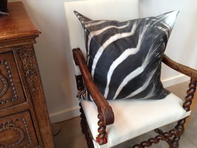 Zebra pillow from Coats Wright