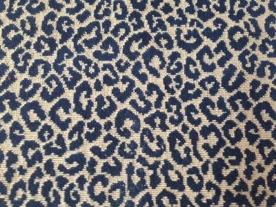Highland Court Leopard Print in Indigo from JBaker Interiors