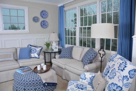 Rosalind Pope Blue and White Room