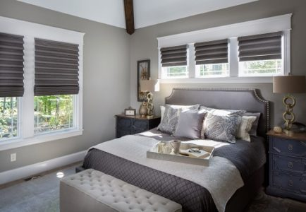 Light filtering window treatments by Hunter Douglas from Drapery Street. Room design by Wendy Langston.