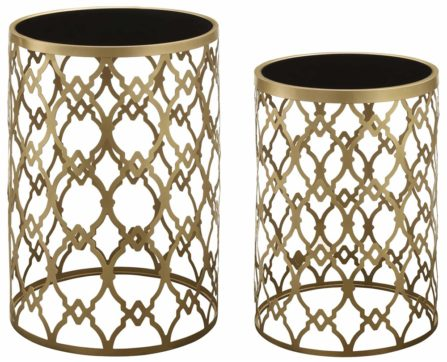 Crestview Collection Monaco Mirror Side Tables from Holder Mattress, suite 119 at the IDC.