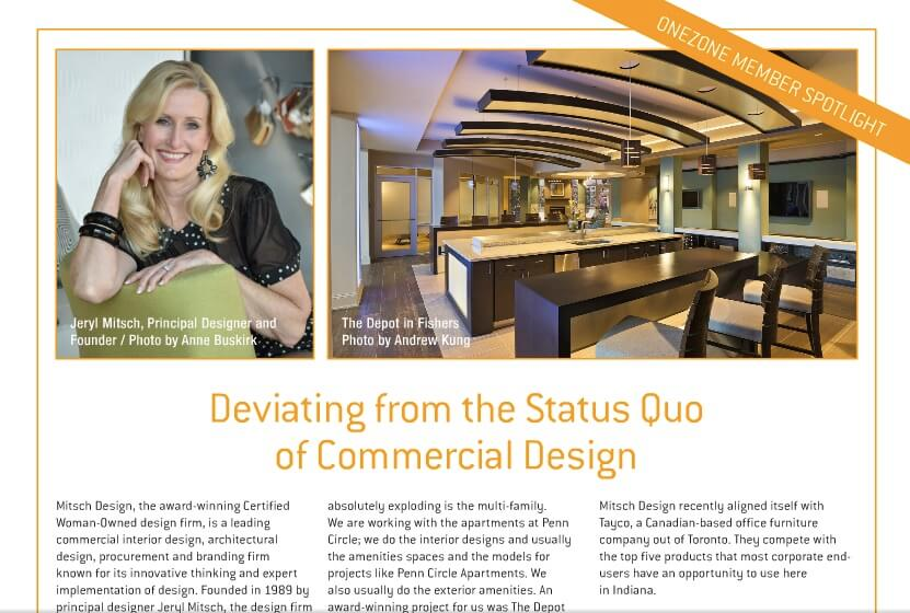 Mitsch Design profiled in Carmel Magazine.