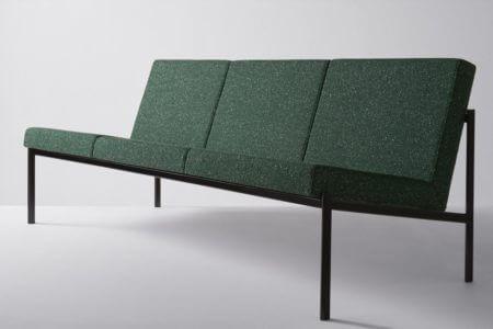1960 Kiki Sofa for Artek Upholstered in Reflex by Raf Simons for Kvadrat.