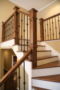 The staircase is often the focal point upon entering one's home. Make it a work of art reflecting your style.