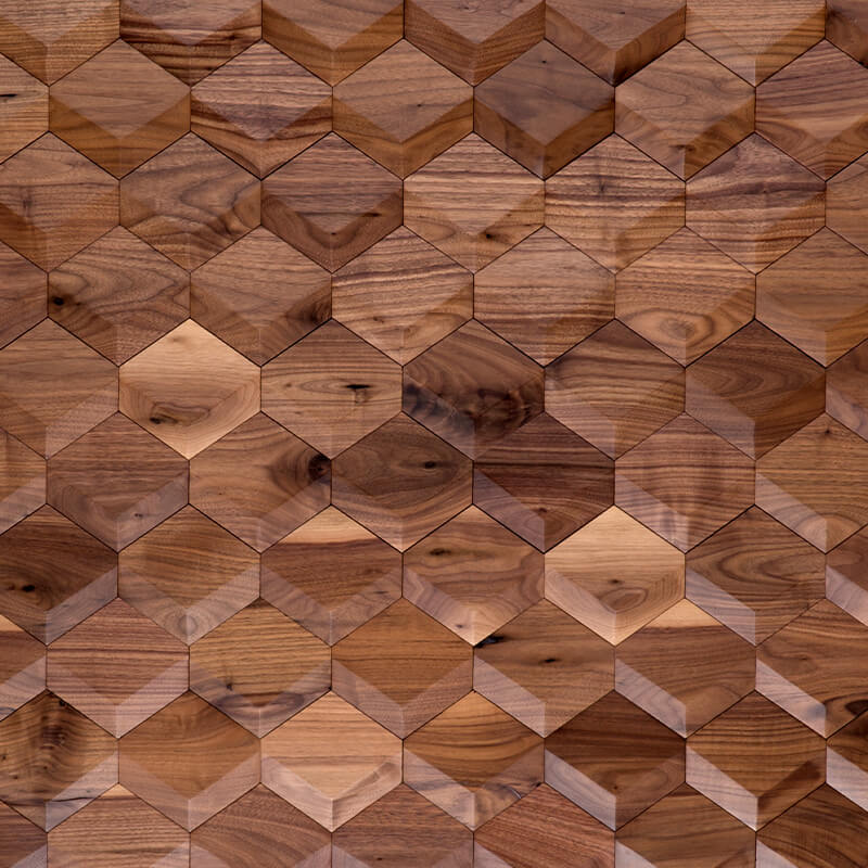 hardwood wallcovering