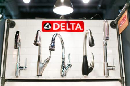 Delta faucets at Ferguson