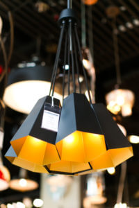 Black and gold pendant lighting